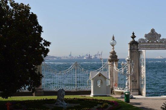 Palacio de Dolmabahçe: La vue du continent asiatique