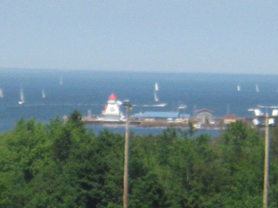 Hotel Shediac: View from our 5th floor balcony looking over to the pier.