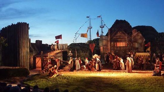 The Lost Colony: View of the stage from my seat!