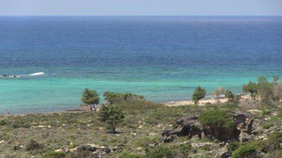 Playa de Elafonisi: VISTA DALL'ALTO