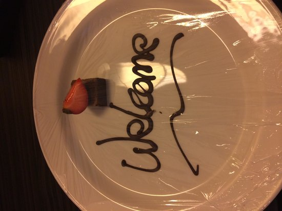 DoubleTree by Hilton Hotel Edinburgh City Centre: Nice touch on arrival.