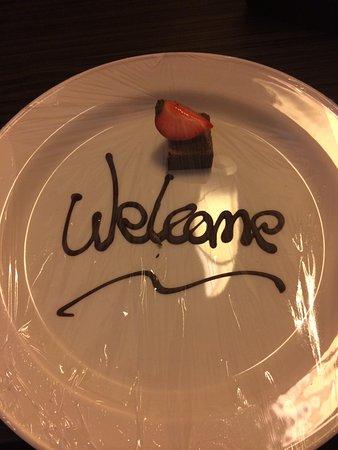 DoubleTree by Hilton Hotel Edinburgh City Centre: Nice touch on arrival.
