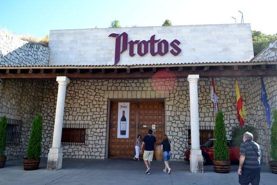 Bodegas Protos : Entrada da Protos