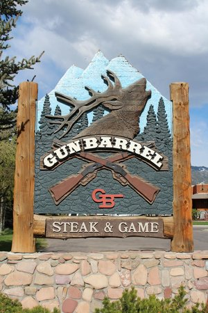 Gun Barrel Steak & Game House: Front Sign