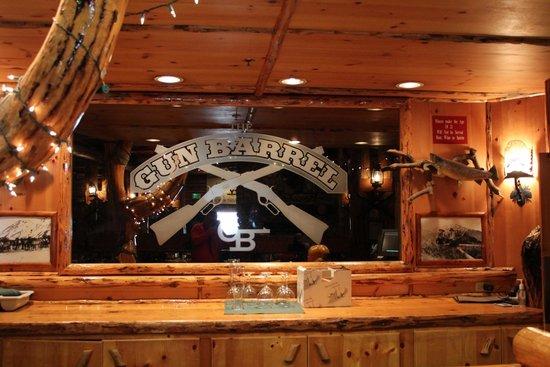 Gun Barrel Steak & Game House: Bar Sign