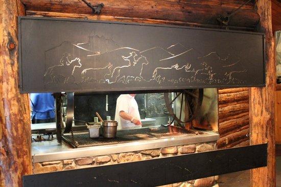 Gun Barrel Steak & Game House: Kitchen Window