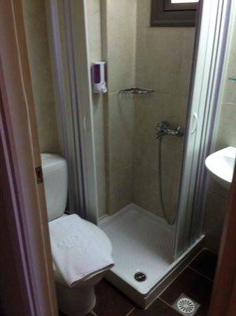 Porto Platanias Beach Resort & Spa: bitteliten do med dusj 1 etasje