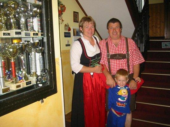 Pension Alpenrose: Familie Gruber die Gastgeber