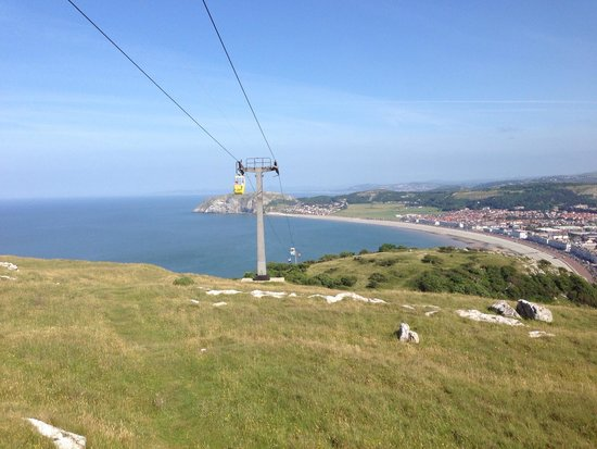Great Orme: Up at the summit, a view of the bay
