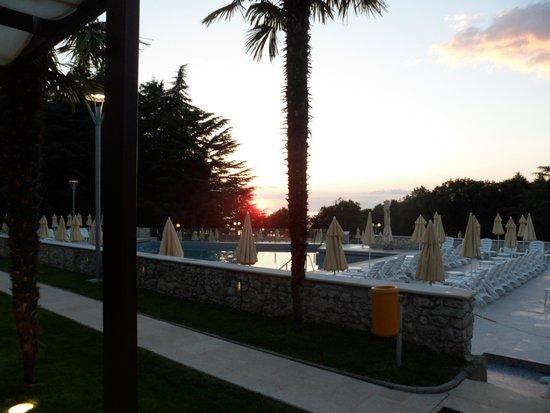 Hotel Laguna Mediteran: Sunset from the hotel