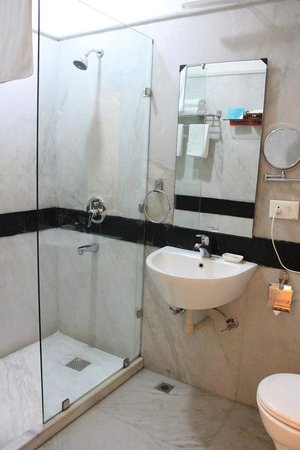 Colonel's Retreat: clean shower, there is no bathtub in the room I stayed