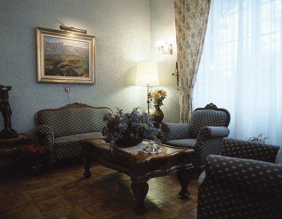 Hotel Xabier: Salón Mª de Azpilicueta. Sala de estar-TV