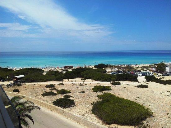 Playa Es Arenals: Panorama dalla Terrazza dell'Hotel