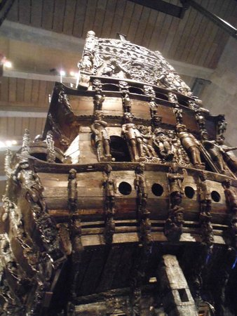 Vasa-Museum: Stern section of the warship Vasa, which sank in 1628.