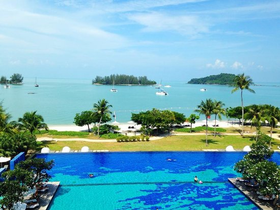 The Danna Langkawi: view from my balcony