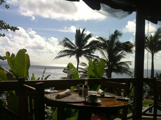 Jungle Bay, Dominica: The view from the dining space