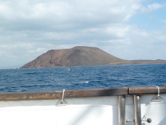 Parque Natural de Corralejo: veduta isola dall'imbarcazione