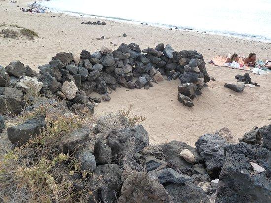 Parque Natural de Corralejo: muretti per ripararsi dal vento