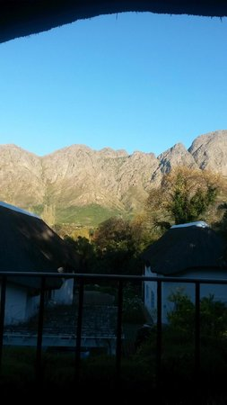 The Villas at Le Franschhoek : View from balcony