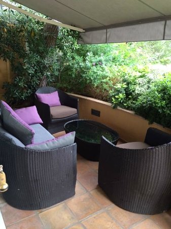 Hotel La Perouse: Private Terrace