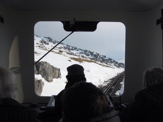Snowdon Mountain Railway : 四月の山