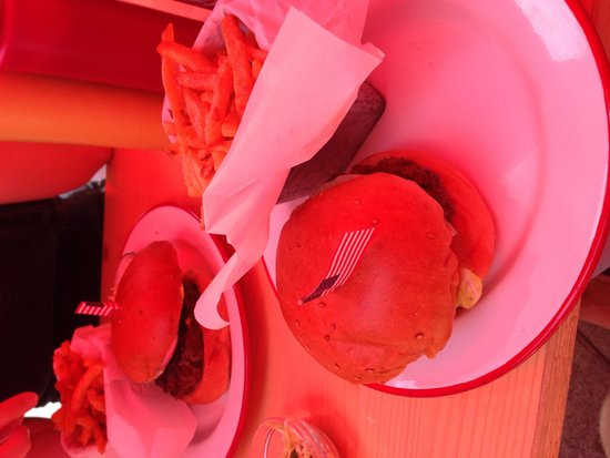 The Hamburger Foundation : The umbrellas are red, hence the tint