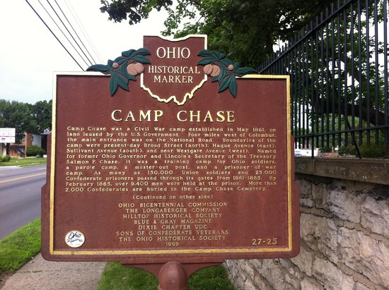 Camp Chase Confederate Cemetery: Camp Chase Historical Marker