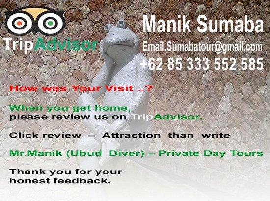 Mr. Manik (Ubud Driver) - Day Tours : Mr.Manik