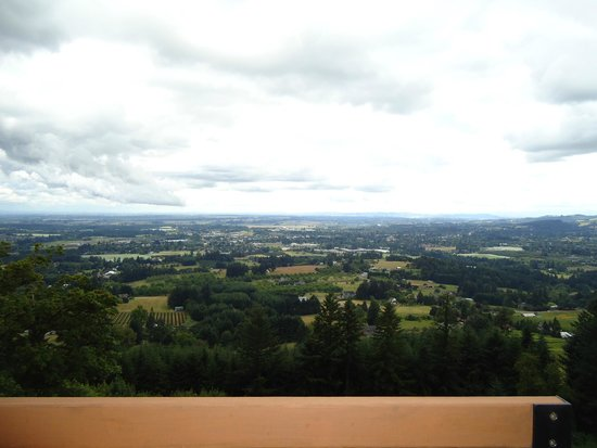 Chehalem Ridge Bed and Breakfast: Bedroom balcony view