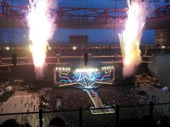 Stadio Giuseppe Meazza (San Siro): vista del palco dall'anello 3