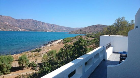 Elounda Island Villas : view from top balcony villa 4