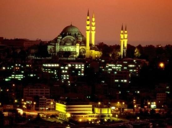 Suleymaniye Mosque: Night time