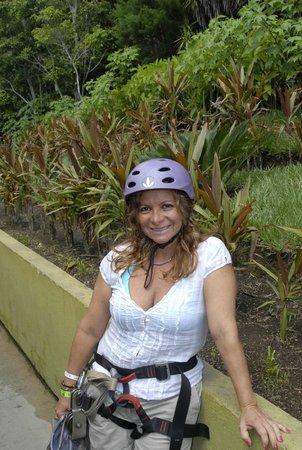 Flamingo Beach Resort & Spa: Geating resdy for canopy, Volcan Rincon de la Vieja, Guanacaste