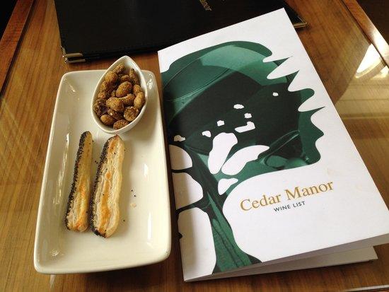 Cedar Manor: snacks at holding area