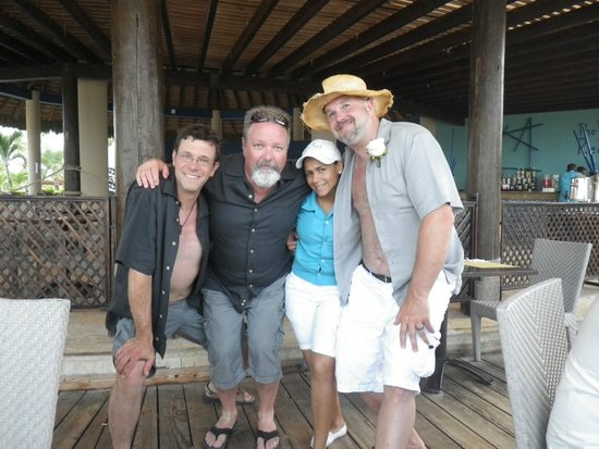Now Larimar Punta Cana : Daniella, groomsmen & groom