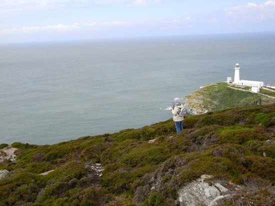 South Stack Lighthouse: View of the lighthouse