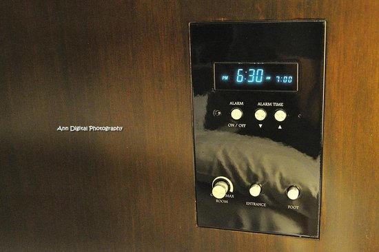 Hotel Monterey Kyoto: 床頭時鐘兼鬧鐘