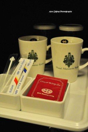 Hotel Monterey Kyoto: 杯子分別提供冷熱飲用