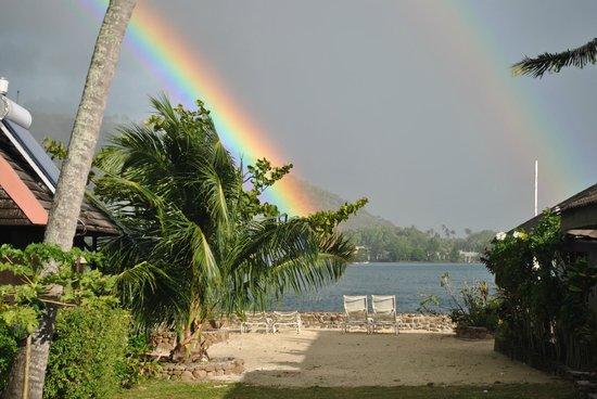Hotel Kaveka: Los arco iris nos recibieron al llegar y hubieron muchos durante nuestra estadía.