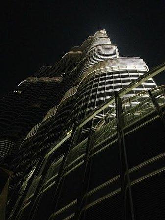 Armani Hotel Dubai: View of the Burj Khalifa from the pool on 3rd floor.