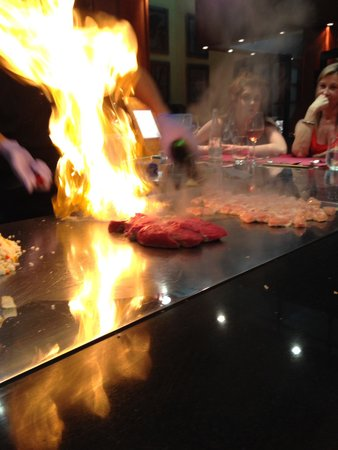 Princesa Yaiza Suite Hotel Resort : A 'Flaming Good' experience in the Japanese Restaurant