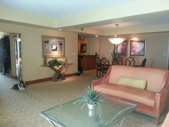 Embassy Suites by Hilton Hot Springs: Main room showing sitting area, kitchenette, dining table.