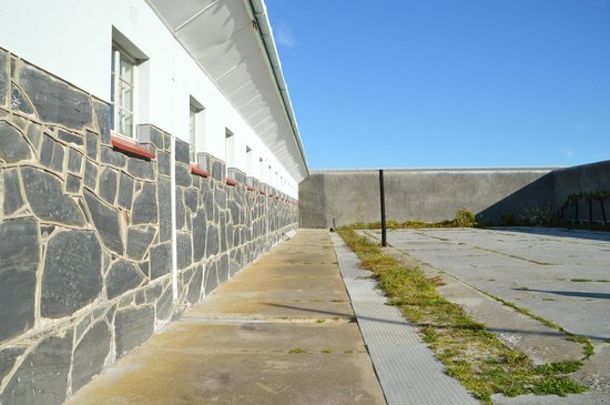 Robben Island: The courtyard of the prison