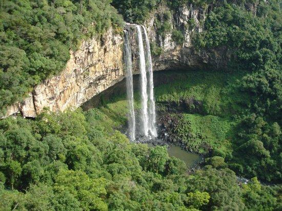 Caracol State Park: cascada desde arriba