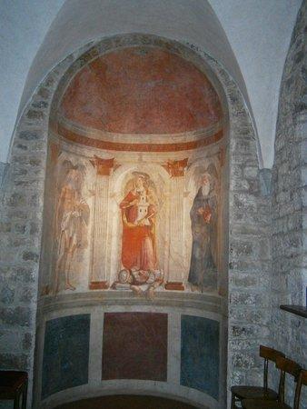 Pieve di Sant'Andrea a Cercina : Affresco del Ghirlandaio