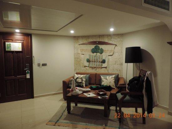 Grand Palladium Bavaro Suites Resort & Spa: Sala de estar suíte júnior