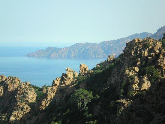 Les Calanche Cliffs : calanche - scorcio  panoramico del mare