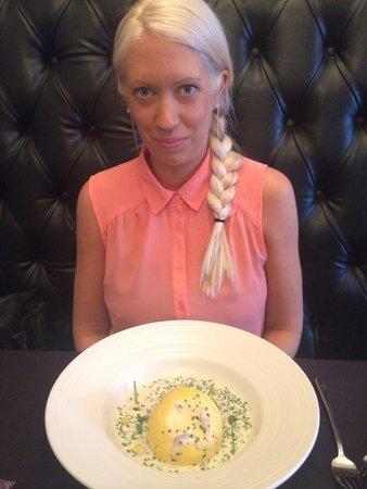 Porto Restaurant: My partner and her starter the soufflé