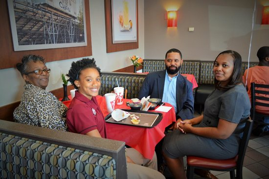 Chick-fil-A: Team Member Meir with her family!