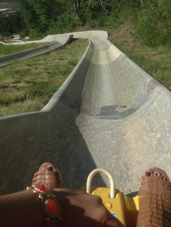 Park City Mountain Resort: Alpine Slide down the mountain (fun but not in a dress after a wedding at the top)